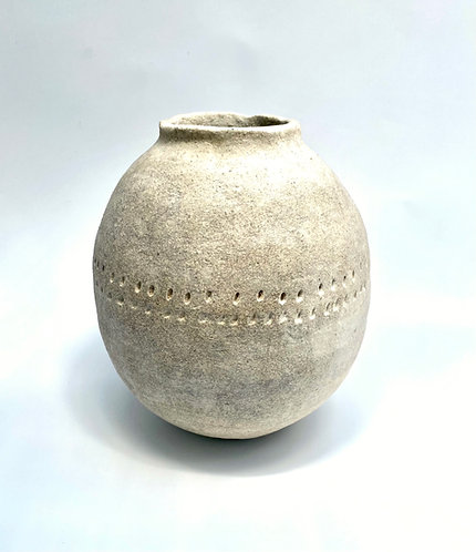 Primitive hand marked vessel By Pascale Vaquette