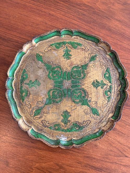 Vintage Italian 'Green' Large Tray
