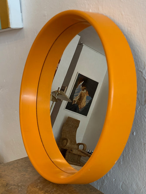 Danish Orange Mid Century Mirror
