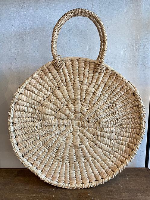 Handwoven Circle Palm Basket