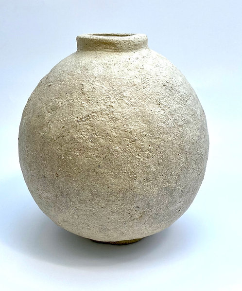 Limestone textured orb By Pascale Vaquette