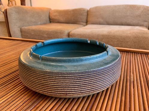 Ceramic Blue Ashtray - By Little John