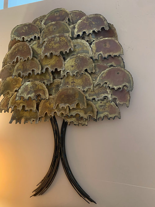 Vintage Brass Tree Artwork