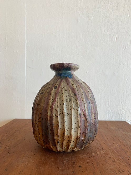 Ceramic Scratch Bud Vase