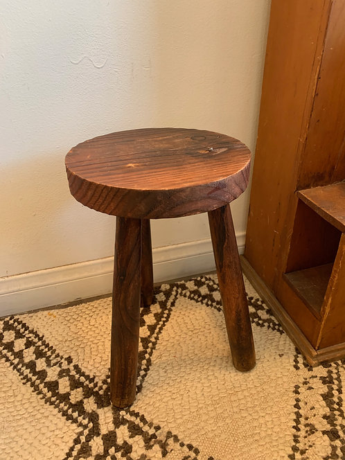 Primitive French Wooden Small Stool