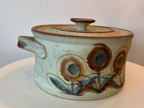 Ceramic Flower Pot w/ Lid