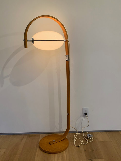 Futurist Bentwood Floor Lamp