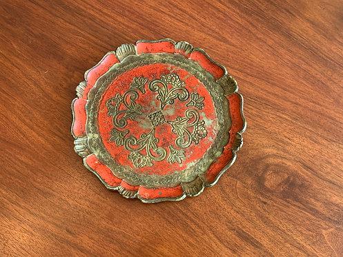 Vintage Italian' Red' Tray