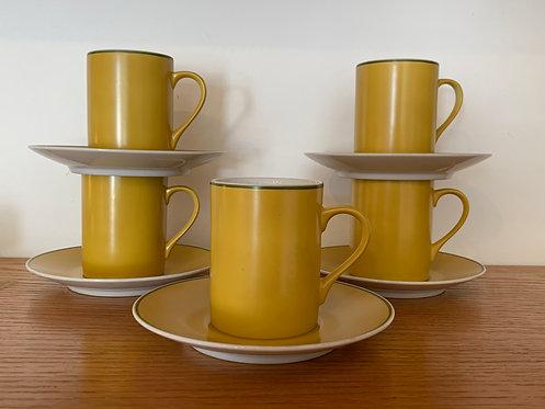 Yellow - Legardo Tackett cups & saucers