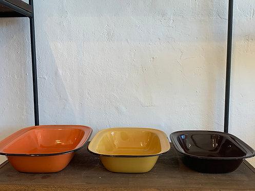 Set fo 3 Vintage Enamel Dishes