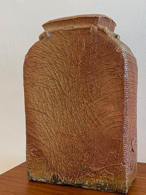 Mid Century Large Scratch Vase