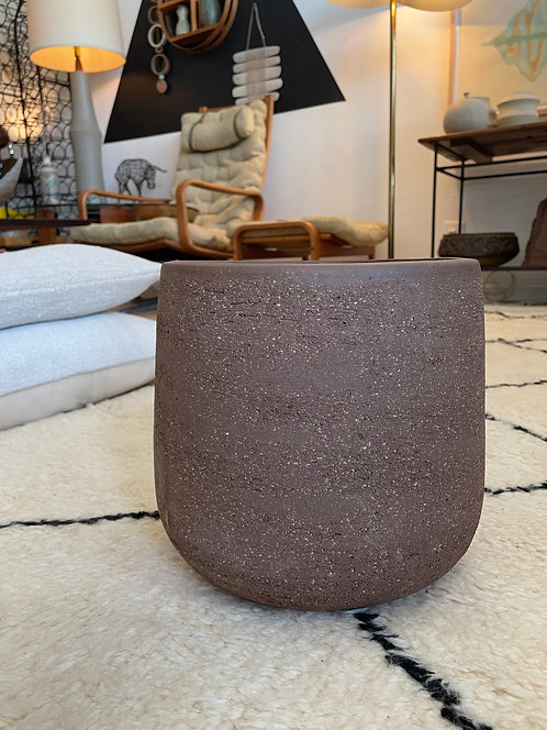 med brown ceramic planter - made in Italy
