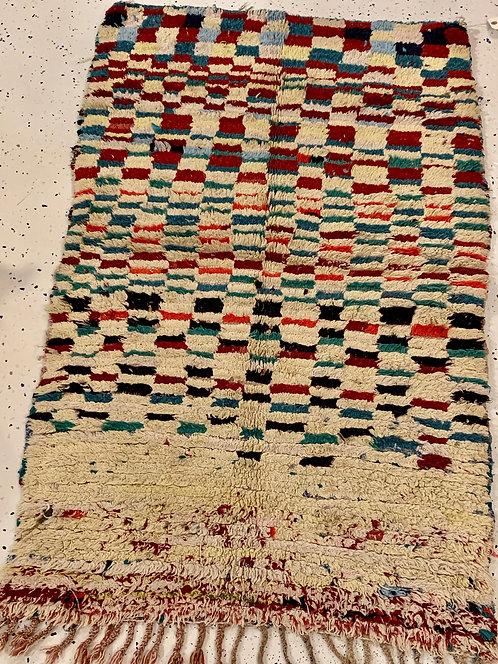 Vintage Moroccan Checkered Rug