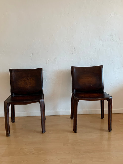 'Cassina' Leather Chairs