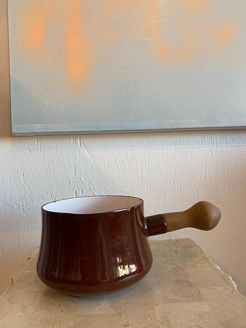 Brown Dansk Pot w/ Wooden Handle