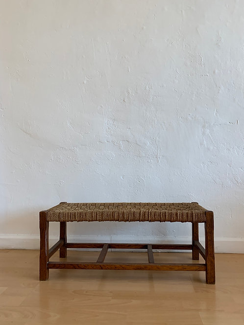 Mid Century Woven Small Bench