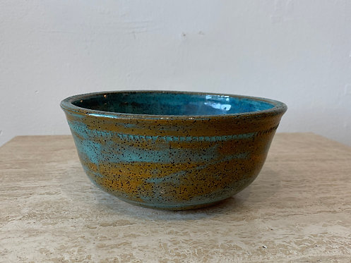 Blue/ Brown Ceramic Bowl