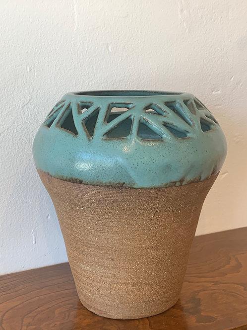 Blue Ceramic planter
