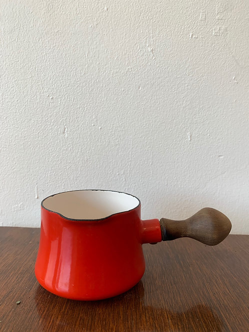 small red dansk cooking pot