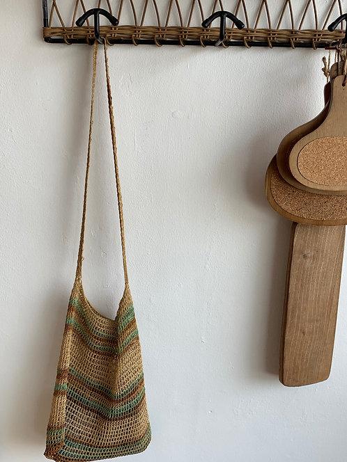 handwoven basket with handles