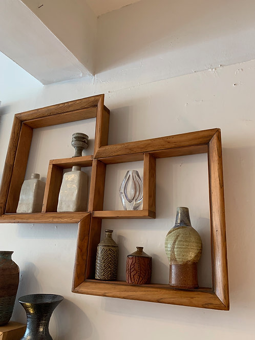 Mid Century Modern Wooden Shelf