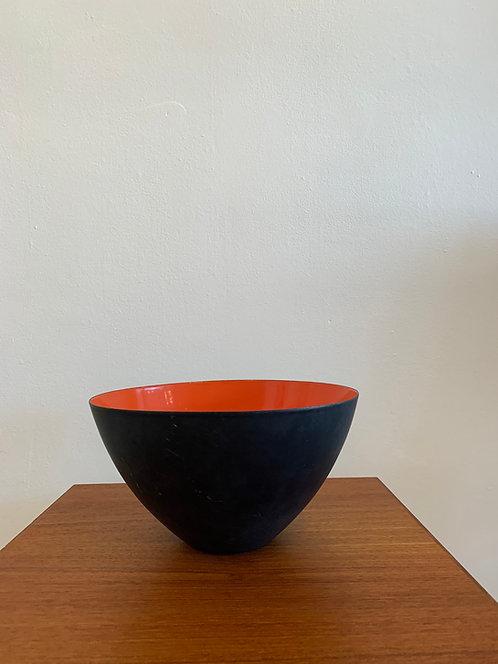 Danish Metal Bowl w/ Red