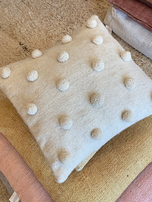 White 'Pom Pom' Pillow