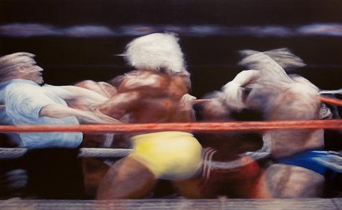 "Main Event : Hulk Hogan & Mr. T w/ ""Superfly"" Jimmy Snuka vs. ""Rowdy"" Roddy Pipe"