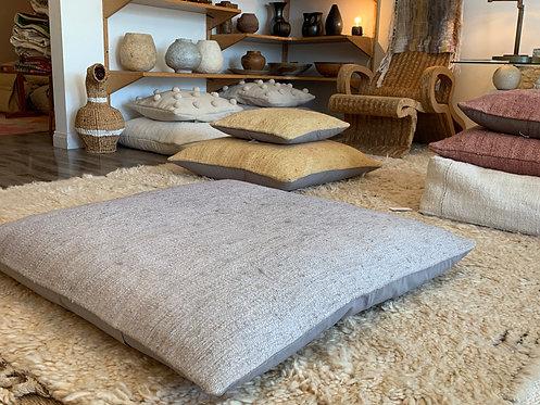 Large Grey Hemp Pillow