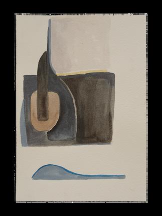 L,A, River Watercolor Study, 3_7x10_No frame.png