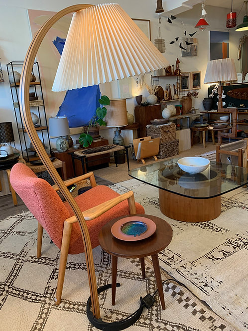 1970s Bent Teak Danish Caprani Floor lamp