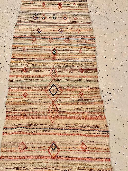 Vintage Moroccan Flat Weave Runner
