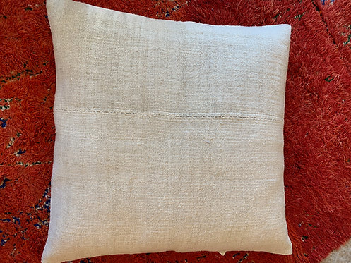 Large White Turkish Hemp Floor Pillow