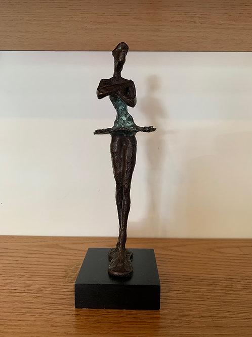 Bronze Ballerina Sculpture w/ Base