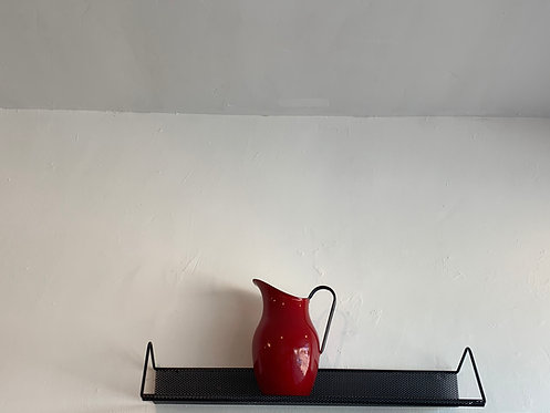 Vintage French Perforated Black Shelf