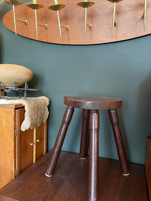 French 1920's wooden stool
