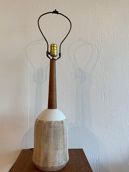 White Ceramic Tall Lamp