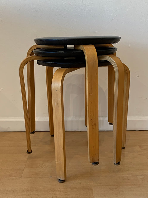 Bentwood Leather Stool