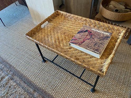 Iron/ Woven Tray Table
