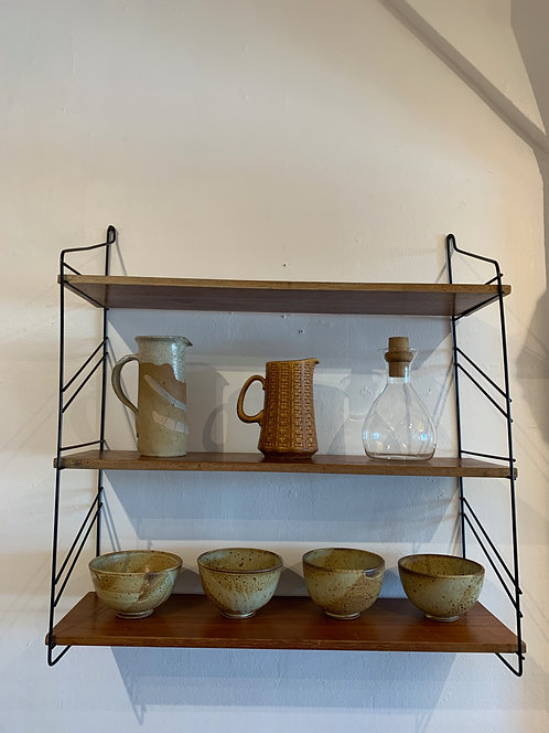 1960's Wooden String Shelves ' Tomado Style'