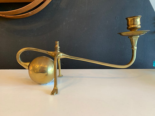 Brass Candlestick holder w/ hands