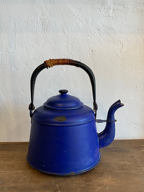 Vintage Blue Japanese Tea Pot