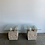 Thumbnail: Vintage Abstract Ceramic Stone Style Side Tables -
