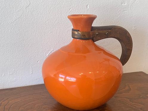 Orange Ceramic Pitcher