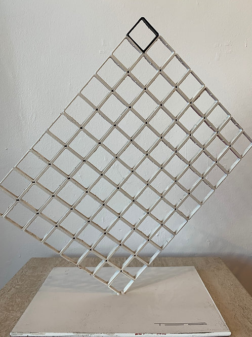 1970's French Abstract Metal Sculpture