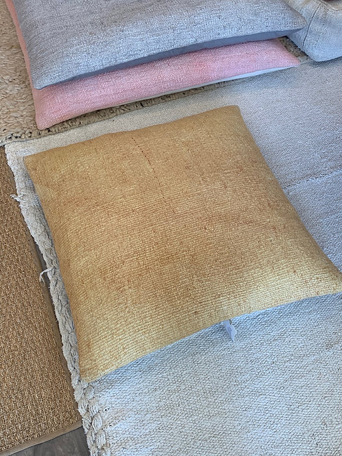 Medium Hemp Mustard Pillow