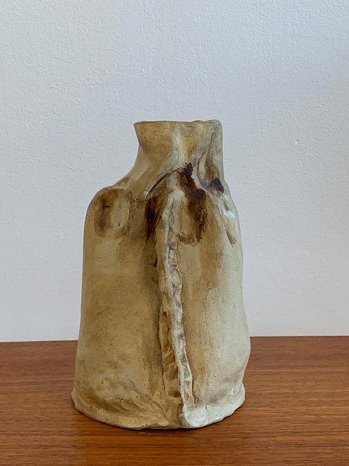 Mid Century Ceramic Yellow Vase