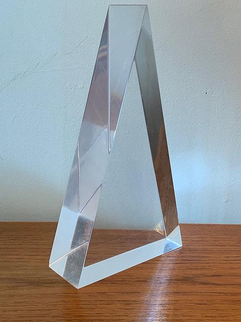 Lucite Triangle