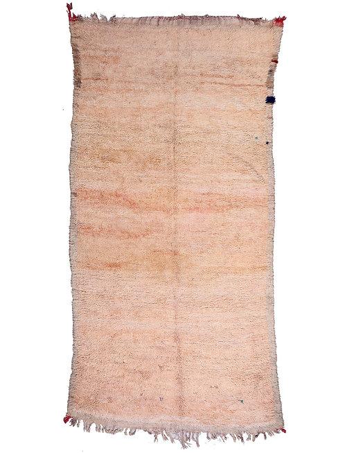 1960's Peach Moroccan Rug