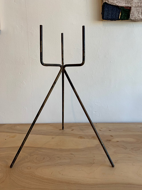 Abstract Metal Plant Stand